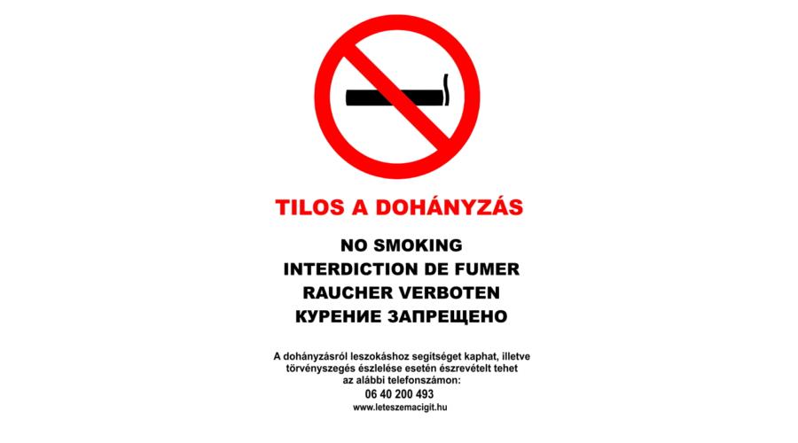 a dohányzásról tilos